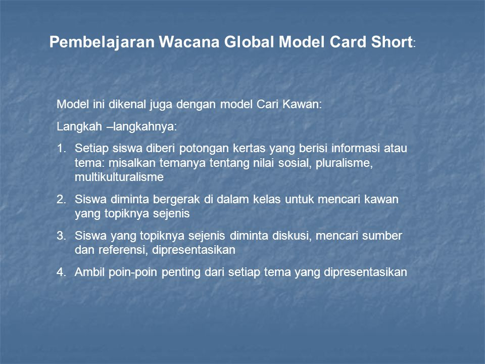 Pembelajaran Wacana Global Model Card Short:
