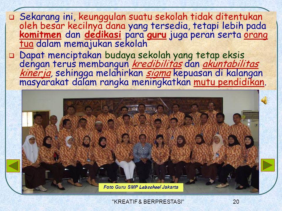 Foto Guru SMP Labschool Jakarta