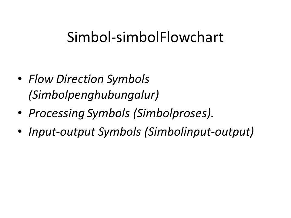 Simbol-simbolFlowchart