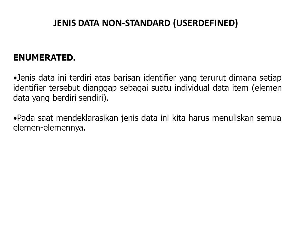 JENIS DATA NON-STANDARD (USERDEFINED)