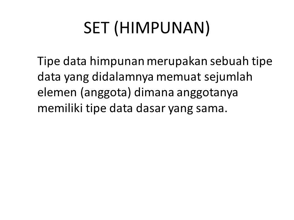 SET (HIMPUNAN)