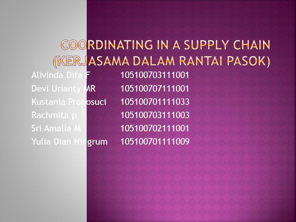 Coordinating in a Supply Chain (Kerjasama dalam Rantai Pasok)