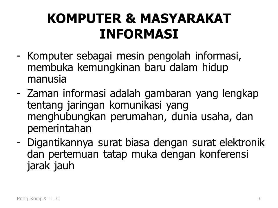 KOMPUTER & MASYARAKAT INFORMASI