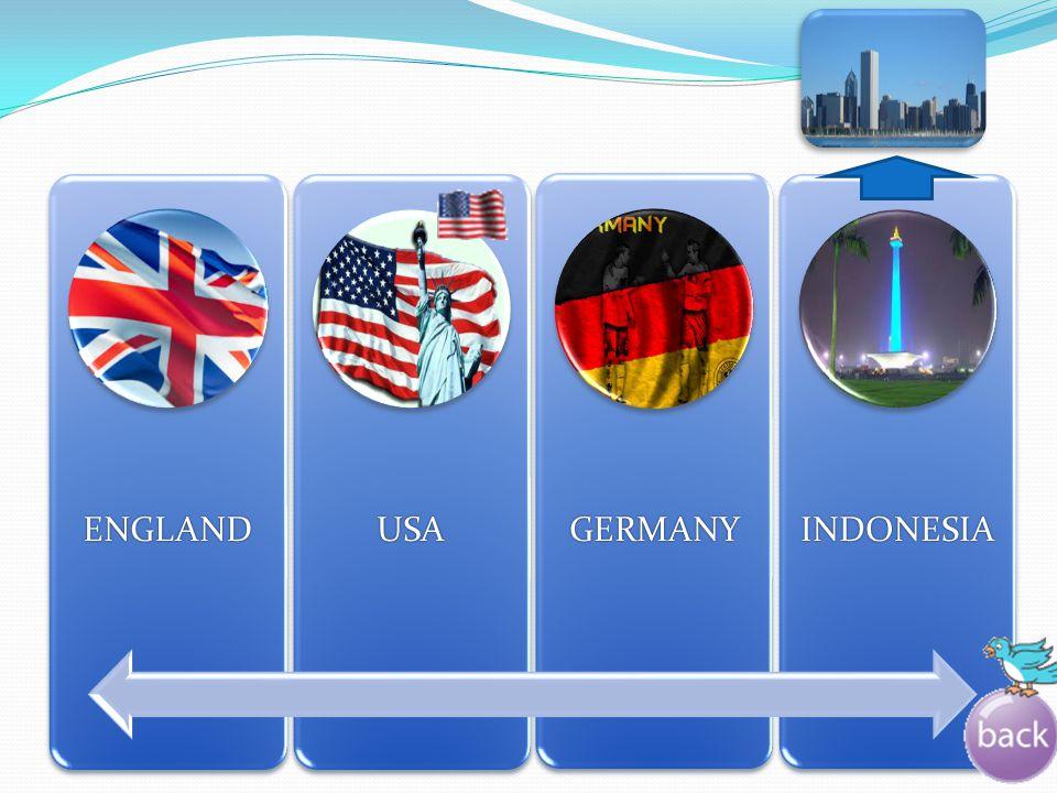 ENGLAND USA GERMANY INDONESIA