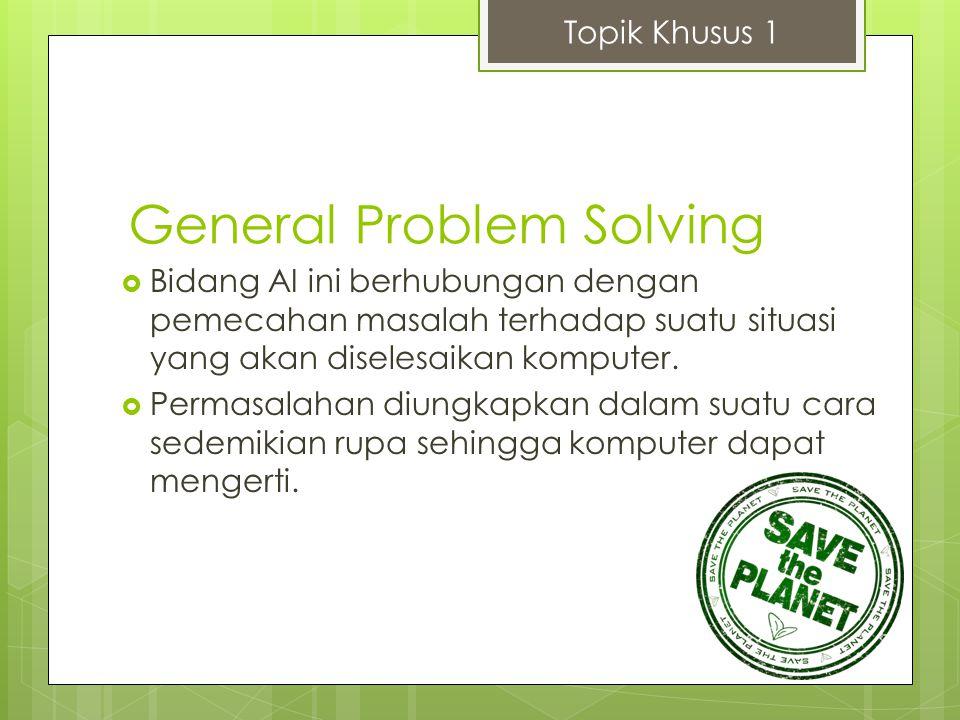 General Problem Solving