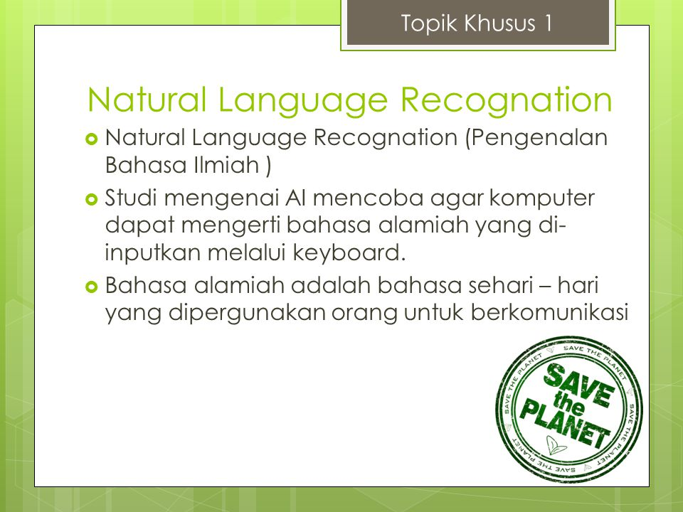 Natural Language Recognation