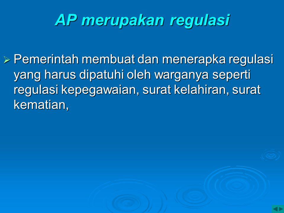 AP merupakan regulasi
