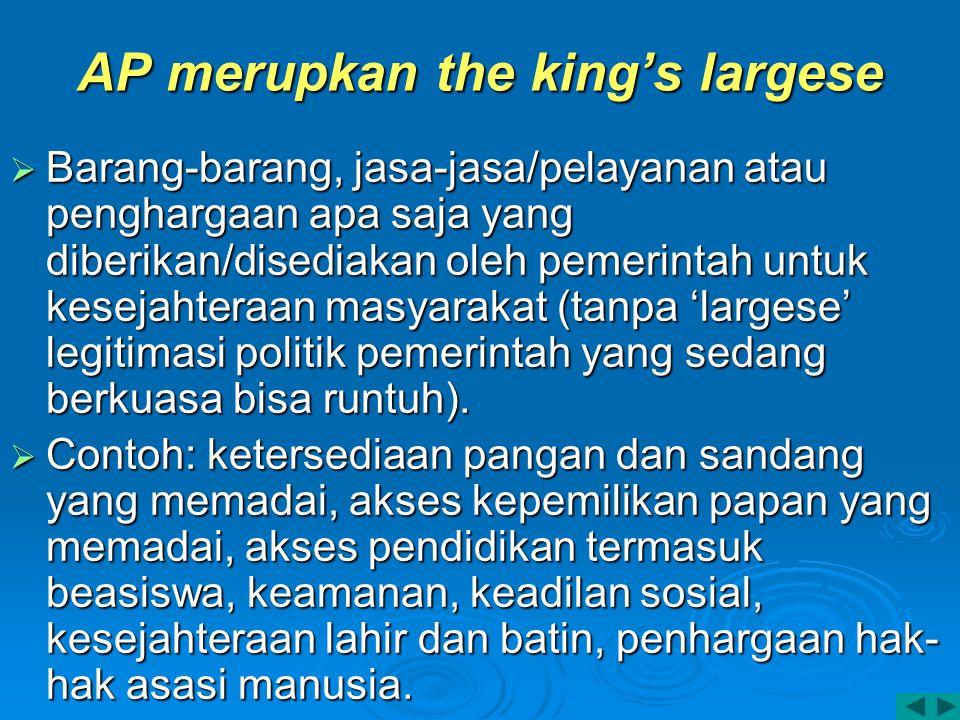AP merupkan the king's largese