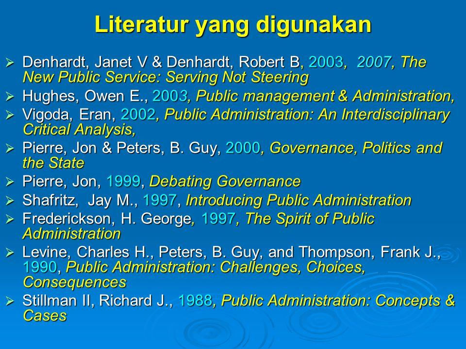 Literatur yang digunakan