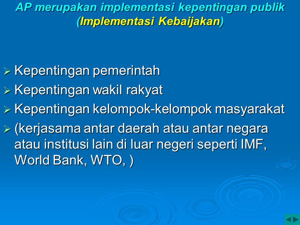 AP merupakan implementasi kepentingan publik (Implementasi Kebaijakan)
