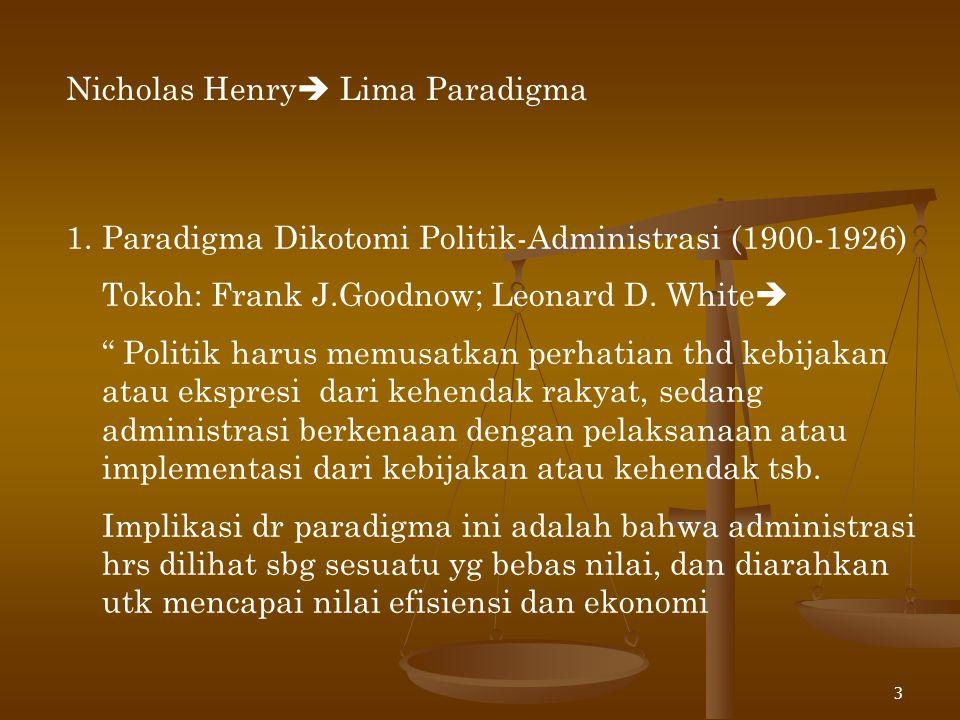 Nicholas Henry Lima Paradigma