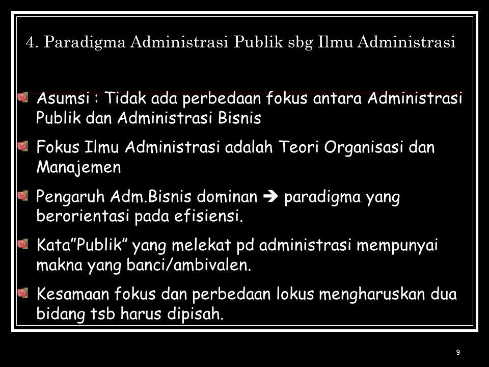 Paradigma Administrasi Publik sbg Ilmu Administrasi