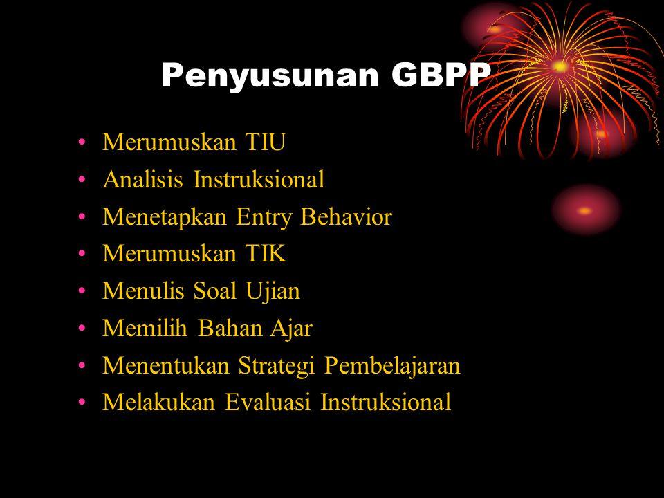 Penyusunan GBPP Merumuskan TIU Analisis Instruksional