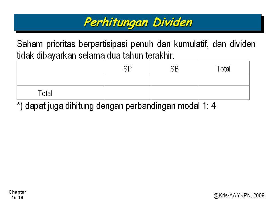 Perhitungan Dividen