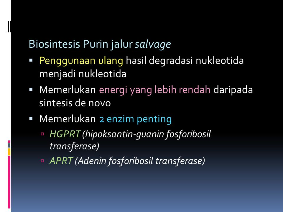 Biosintesis Purin jalur salvage