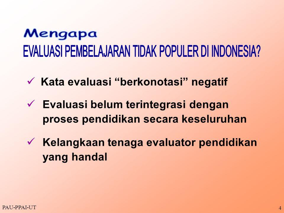 EVALUASI PEMBELAJARAN TIDAK POPULER DI INDONESIA