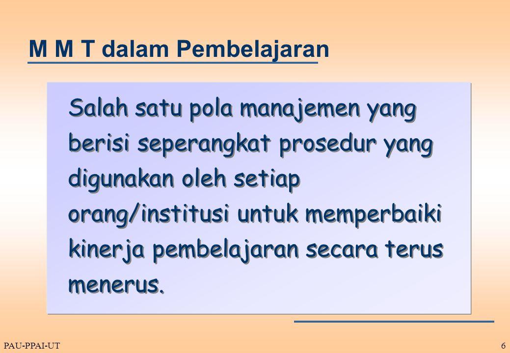 M M T dalam Pembelajaran