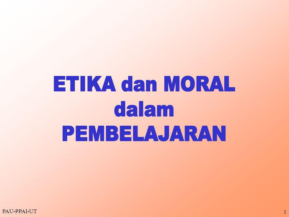 ETIKA dan MORAL dalam PEMBELAJARAN