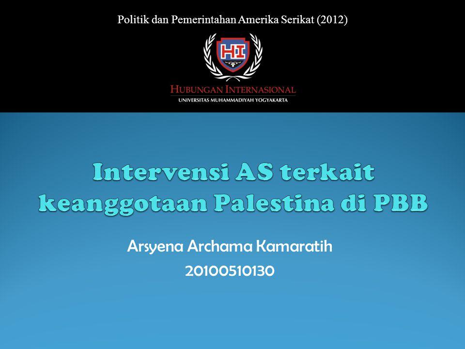 Intervensi AS terkait keanggotaan Palestina di PBB