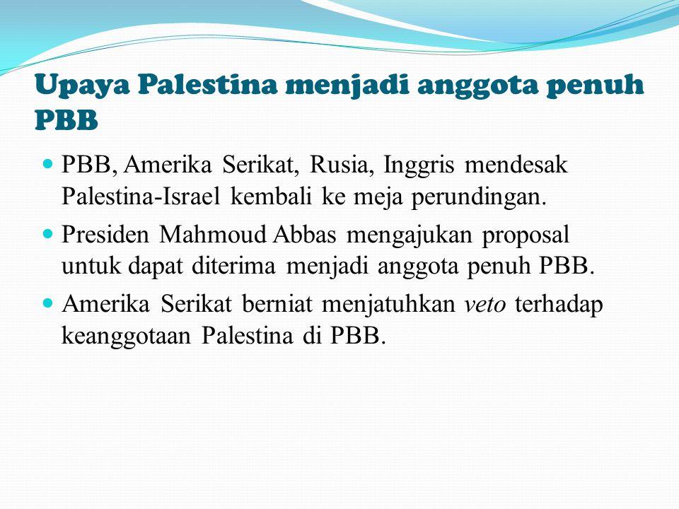 Upaya Palestina menjadi anggota penuh PBB
