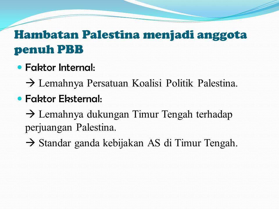 Hambatan Palestina menjadi anggota penuh PBB