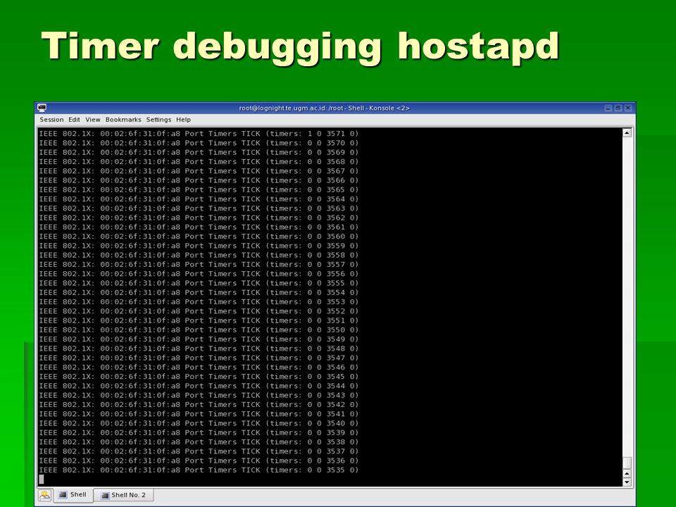 Timer debugging hostapd