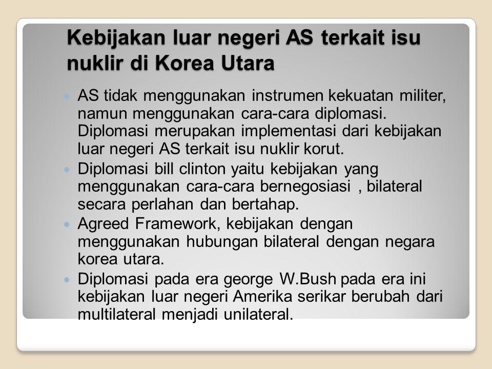 Kebijakan luar negeri AS terkait isu nuklir di Korea Utara