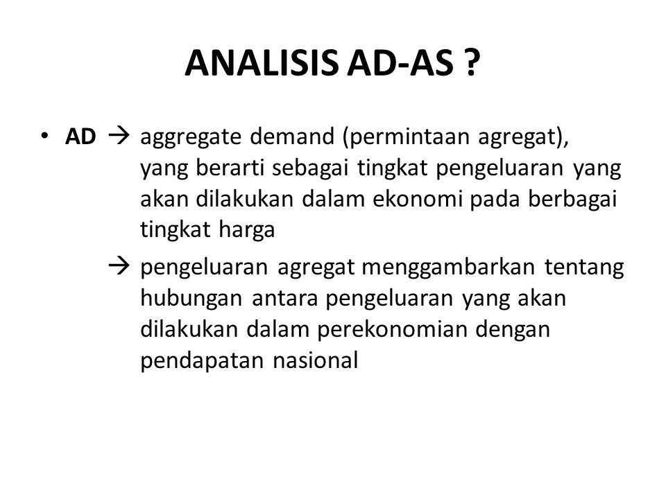 ANALISIS AD-AS