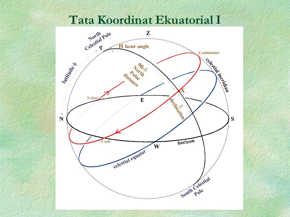 Tata Koordinat Ekuatorial I