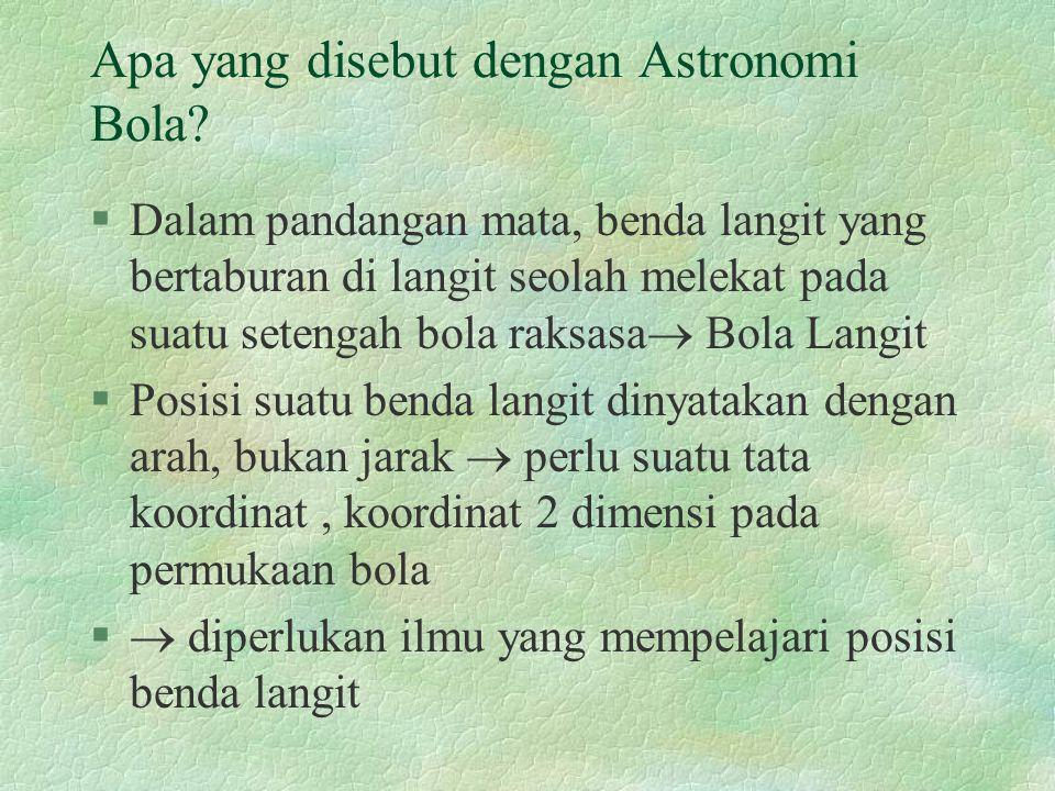 Apa yang disebut dengan Astronomi Bola
