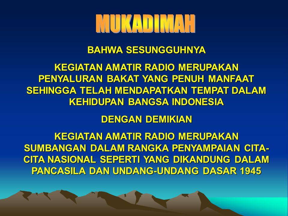 MUKADIMAH BAHWA SESUNGGUHNYA