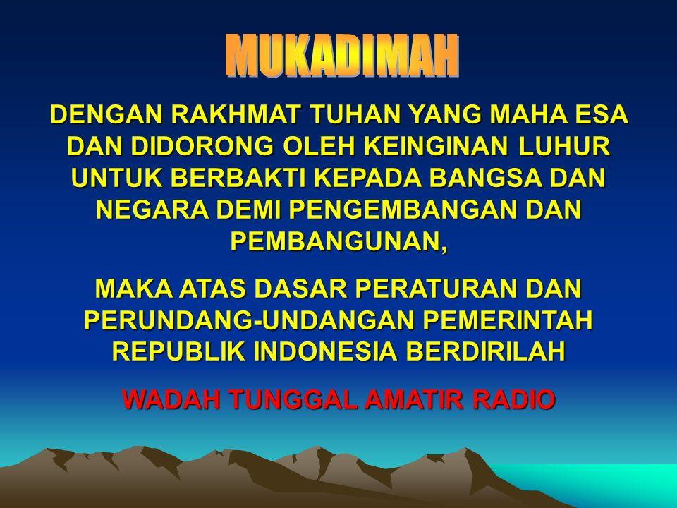 WADAH TUNGGAL AMATIR RADIO