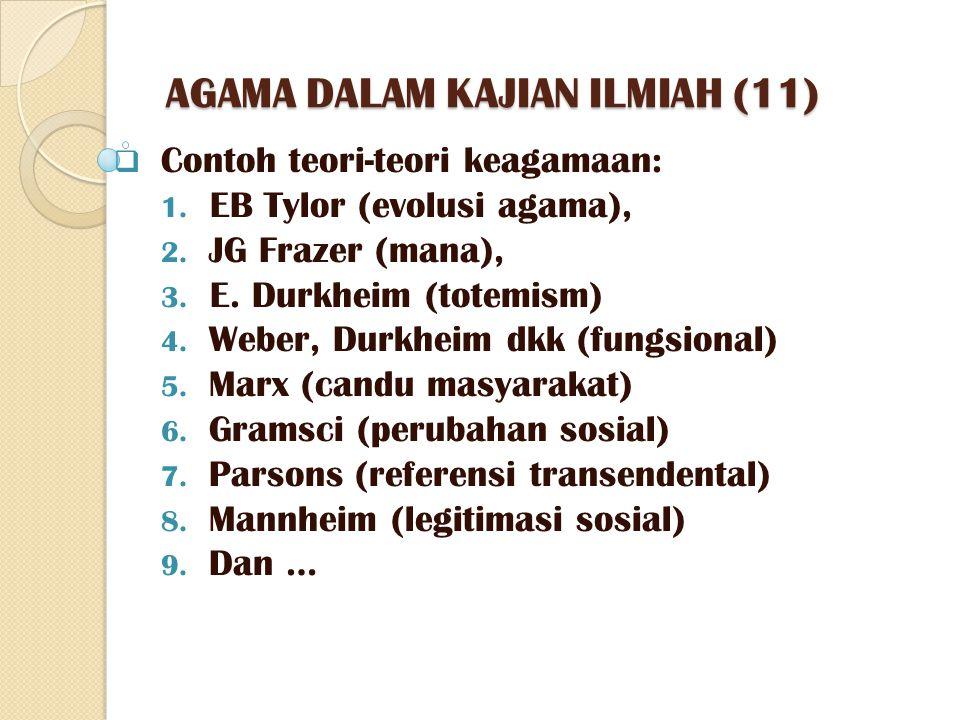 AGAMA DALAM KAJIAN ILMIAH (11)