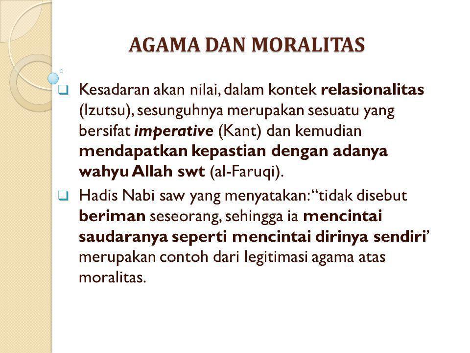 AGAMA DAN MORALITAS