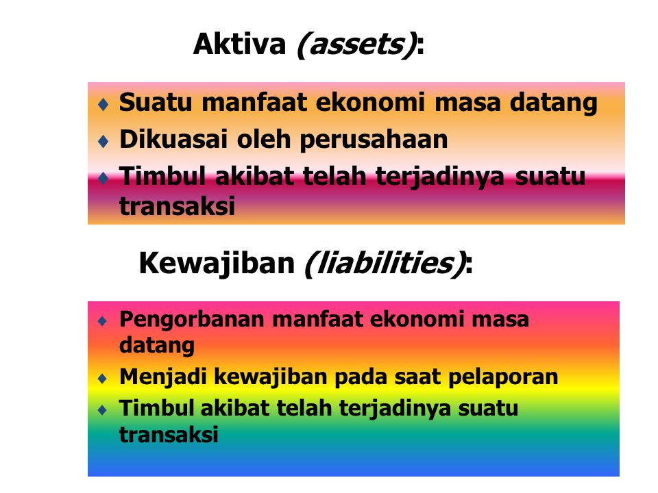 Kewajiban (liabilities):
