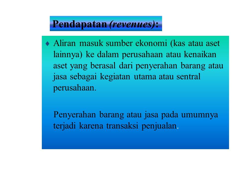 Pendapatan (revenues):
