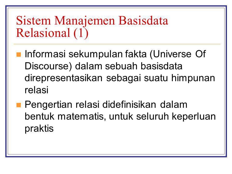 Sistem Manajemen Basisdata Relasional (1)