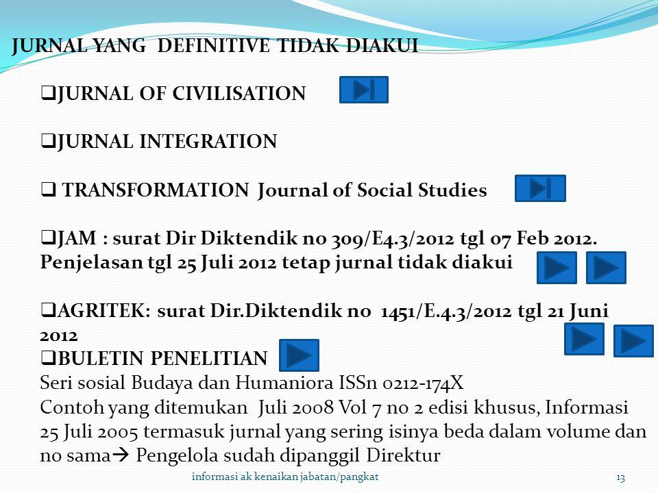 JURNAL YANG DEFINITIVE TIDAK DIAKUI JURNAL OF CIVILISATION