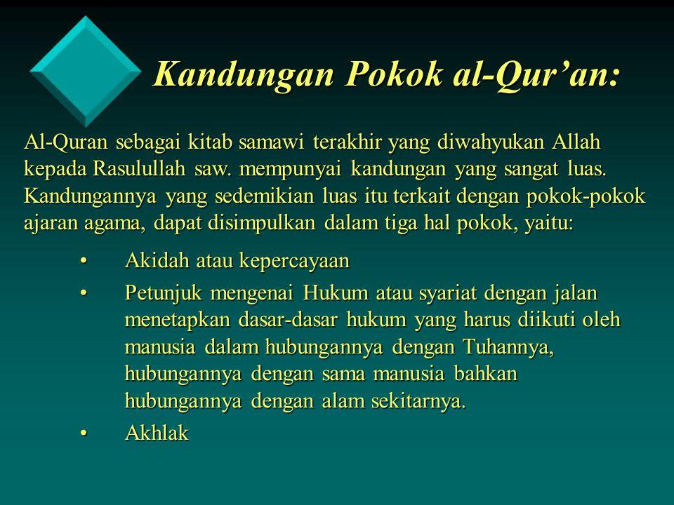 Kandungan Pokok al-Qur'an: