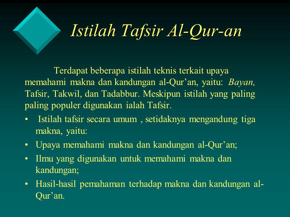 Istilah Tafsir Al-Qur-an