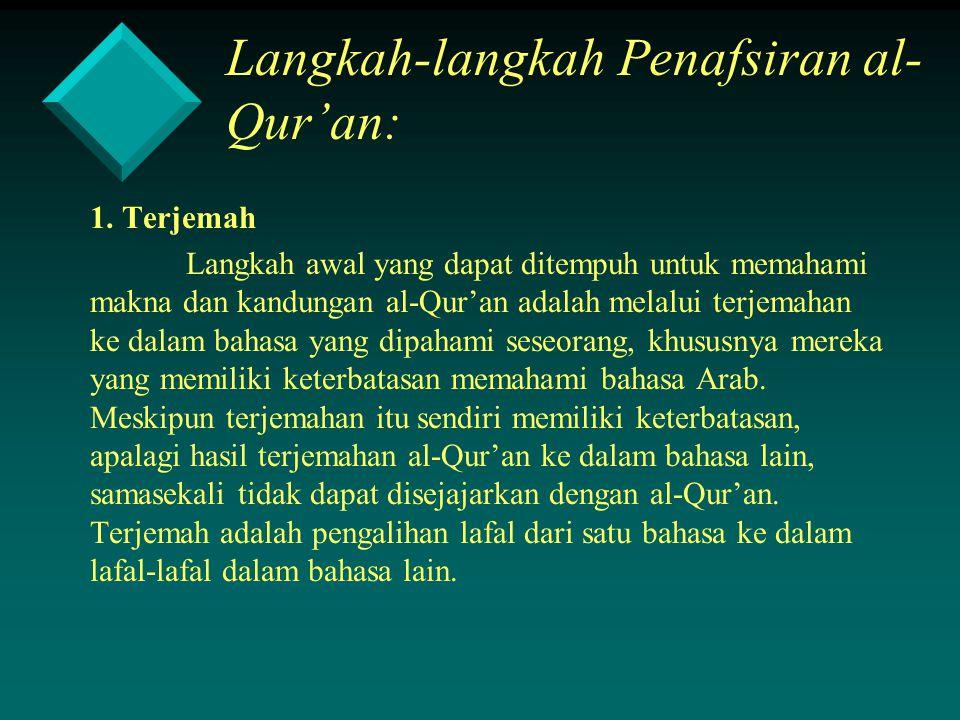 Langkah-langkah Penafsiran al-Qur'an: