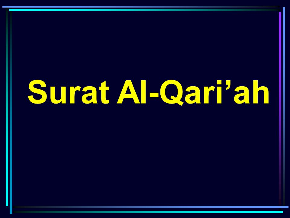 Surat Al-Qari'ah