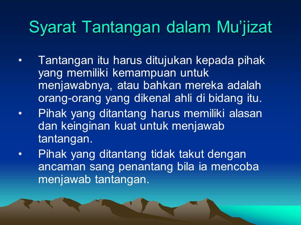Syarat Tantangan dalam Mu'jizat
