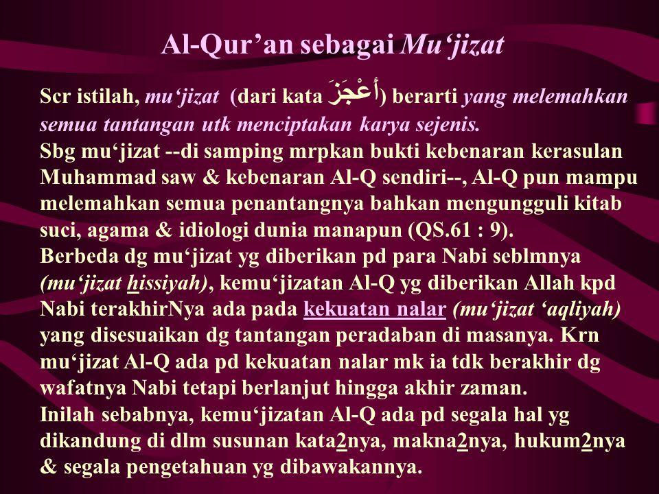 Al-Qur'an sebagai Mu'jizat