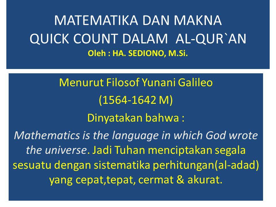 Menurut Filosof Yunani Galileo
