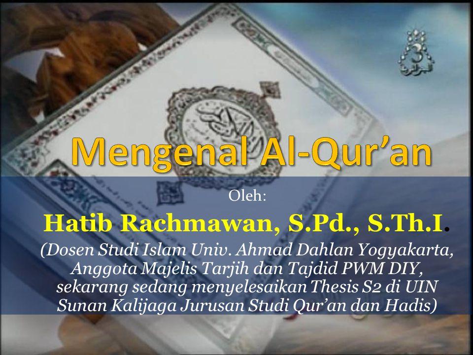 Hatib Rachmawan, S.Pd., S.Th.I.