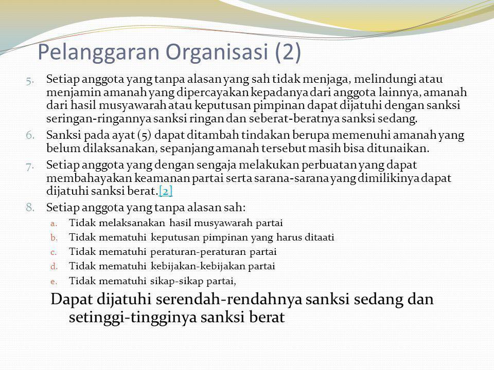 Pelanggaran Organisasi (2)