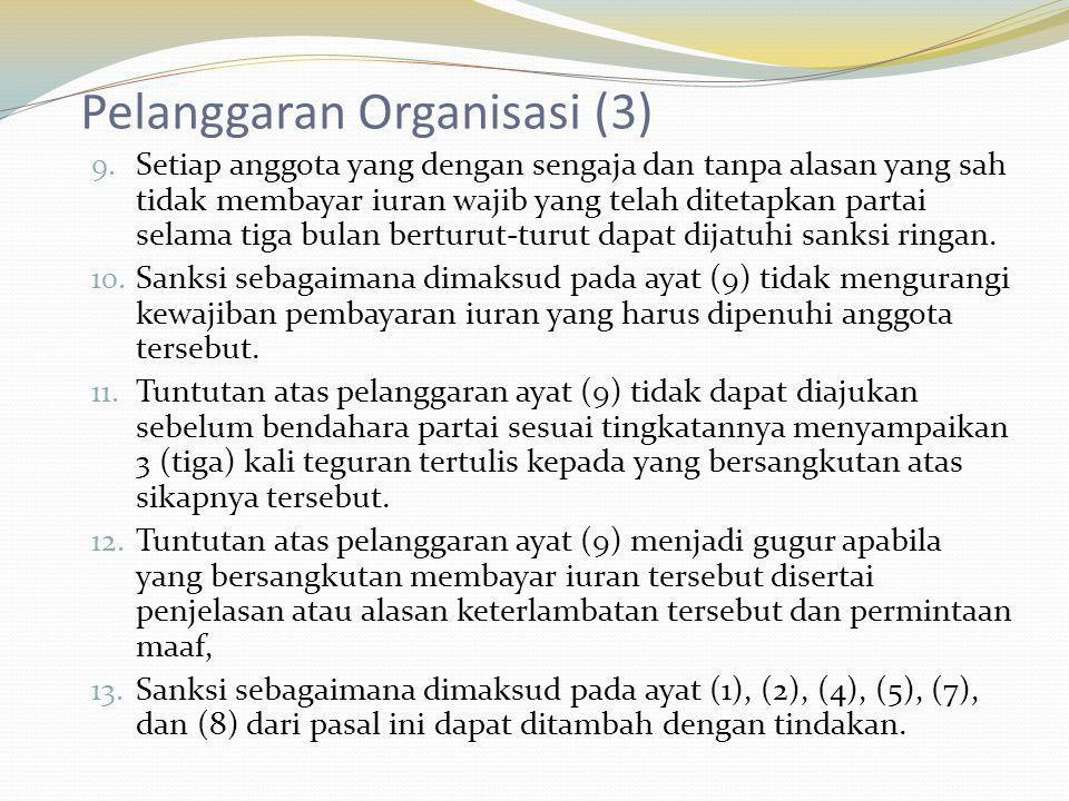 Pelanggaran Organisasi (3)