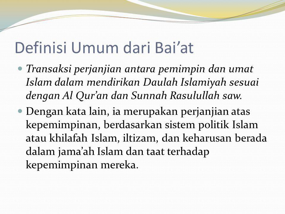 Definisi Umum dari Bai'at