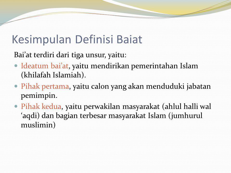Kesimpulan Definisi Baiat